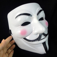 Face Mask about Vendetta Anonymous Film Guy Fawkes Fancy Cosplay for Christmas Easter Halloween (Color: White) = 1946536260