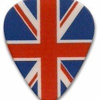 British Flag Union Jack logo Guitar Pick