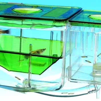 Hatch guppy baby fish separate box double set Aquarium small fish separation box fish breeding box