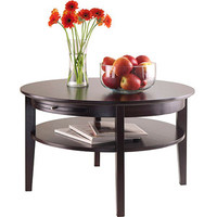 Walmart: Amelia Round Coffee Table with Pull-Out Tray, Espresso