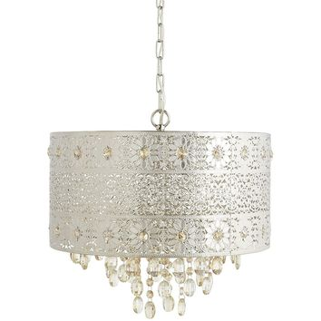 Boho Glam Crystal Accent Pendant Chandelier