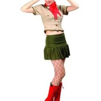 RG Costumes 81514-L Cutie Cookie Girl Scout Adult Costume - Large