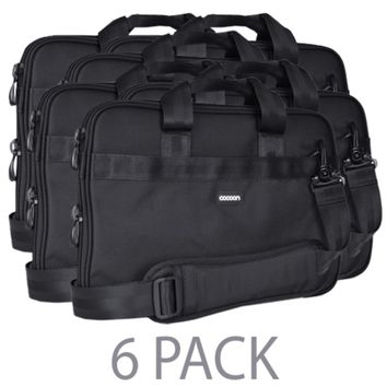 (6-Pack) Cocoon CLB409BY Ballistic Nylon Laptop Case w/Strap & Grid-It Organization System - Fits 15.6 (Black/Yellow)