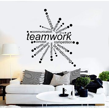 Vinyl Wall Decal Teamwork Words Office Decor Business Stickers Unique Gift (ig4342)