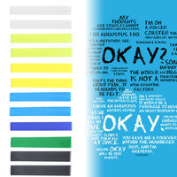 TFIOS | Shades of The Fault in our Stars cover - Yellow, White, Blue, Black, Green Ombre Hair Chalk temporary hair color set of 12