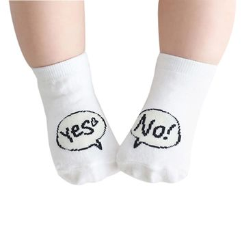 Baby sock letter Cute Infant Socks Newborn Cotton Boys Girls Toddler Anti-slip Socks drop shipping