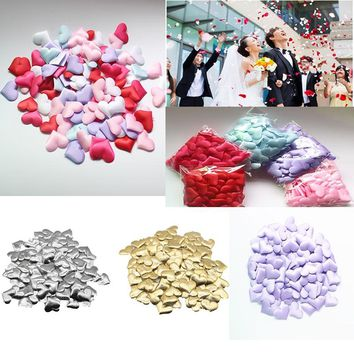 100PCS/lot Throwing Heart Petals Table Decoration Valentines Day Decal Party Supply Wedding Decor HMP