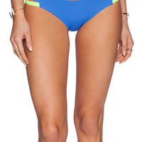 Lisa Lozano Neon Sporty Bikini Bottom in Blue