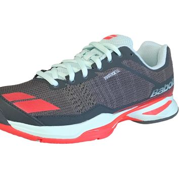 Babolat Jet Team Women's All Court Tennis Shoes- Grey/red/blue
