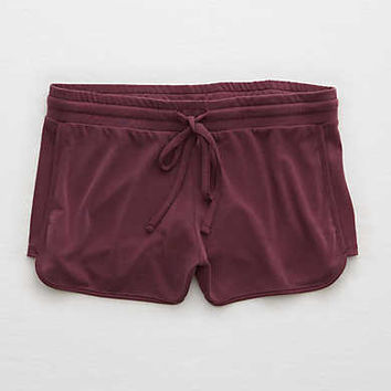 Aerie Real Soft® Dolphin Short , Deep Plum