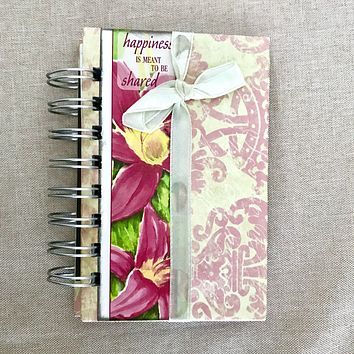 Happiness - 3x5 Lined - Bullet Journal - Planner - Spiral Bound