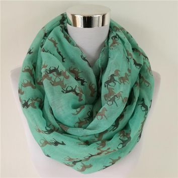 New Fashion Ladies Horse Infinity Scarf