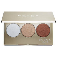BECCA Shimmering Skin Perfector® Pressed Champagne Glow Palette featuring Champagne Pop x Jaclyn Hill (3 x 0.084 oz Pearl/ Champagne Pop/ Blushed Copper)