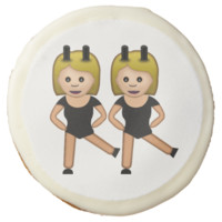 Woman With Bunny Ears Emoji Sugar Cookie