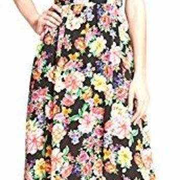 Lucca Couture Floral Maxi Dress Size Small