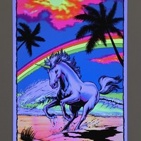 Black Light Unicorn Poster - Urban Outfitters