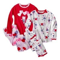 Just One You® by Carter's® Infant Toddler Girls' Pajama Set - Red/White