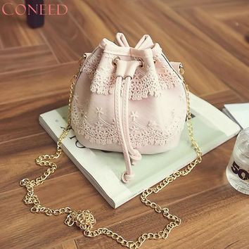 Charming Nice CONEED Best Gift CONEED Women Lace Handbag Shoulder Bags Tote Purse Messenger Satchel Bag Cross Body Y35