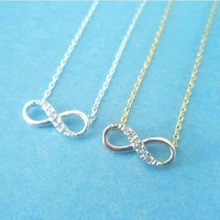 Cute, Infinity Forever, Silver, Necklace