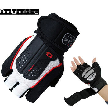 Strong Fitness Gloves Academia Power Weight Lifting Dumbbell Crossfit Barbell Fingerless Half Finger Gloves