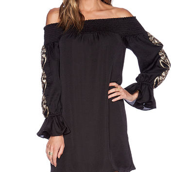 VAVA by Joy Han Dylan Off Shoulder Dress in Black