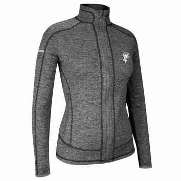 Pittsburgh Penguins Reebok Women's Balance Hockey Chic Full Zip Jacket - Charcoal