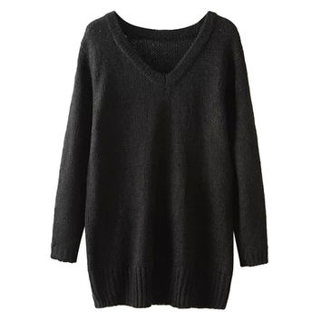 V- Neck Pullover Knitted Sweater
