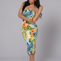 Daphne Dress - Tropical