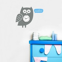 Wall Clock Decal Owl