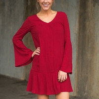 Girl On Fire Dress, Red