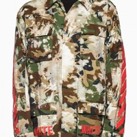 Field jacket from the F/W2015-16 Off-White c/o Virgil Abloh in camouflage