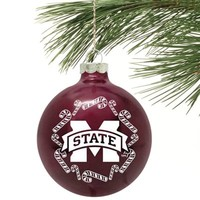 Mississippi State Bulldogs Candy Cane Traditional Ornament