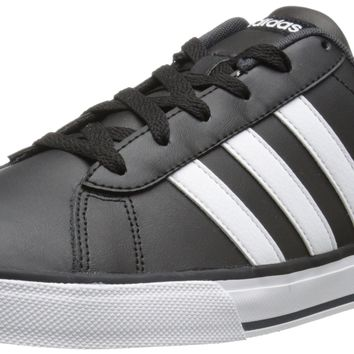 adidas NEO Men's SE Daily Vulc Lifestyle Skateboarding Shoe Black/White/Dark Grey 11 D