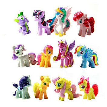 12 Pcs/Set Figurines Playset Doll for My Little Pony Toys Kids Gilrls Gifts
