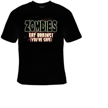 zombies eat brain t-shirt cool funny t-shirts cute gift present humor tee shirt