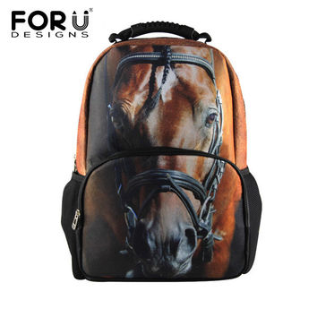 Forudesigns Animal Prints Cotton Fabric Backpacks For Men 3155a