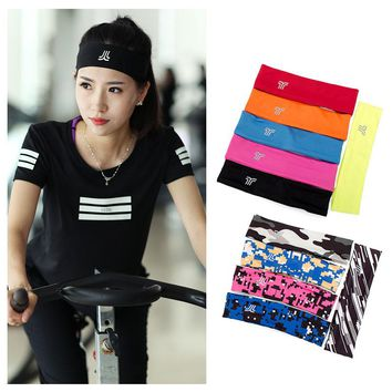 Yoga Hair Band Headband Women Men Elastic Sports Hairbands Running Anti-slip Sweat Absorb Headband Free shipping