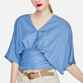 Sexy tensy denim blouses are hot for spring women's wear