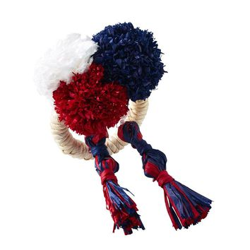 Fiesta Napkin Ring S/4 | Navy+Red
