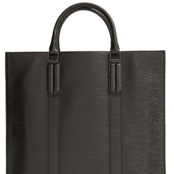 Men's Ben Minkoff Embossed Leather Tote - Black