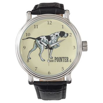 english pointer wristwatch