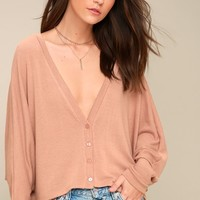 Romeo Blush Pink Long Sleeve Sweater Top