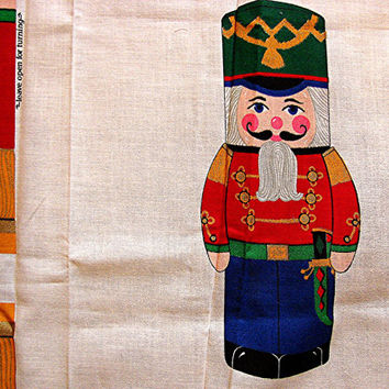 Christmas Fabric Panel 2 Nutcracker Soldiers Sewing Craft Panel
