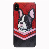 GUCCI 2019 New Year's Eve Soft Leather Shell Men and Women iPhone XS Max Mobile Shell 6