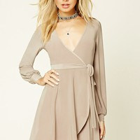 Surplice-Front Mini Dress