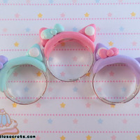 Pastel Kawaii Cat Ear Rings