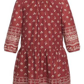 Girl's Burberry 'Tais' Print Peasant Dress,