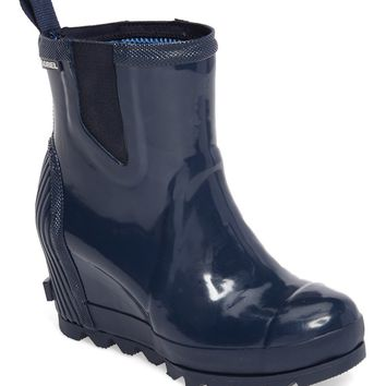 SOREL Joan Glossy Wedge Rain Boot (Women) | Nordstrom