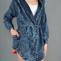 JADIRA - Oversize hooded denim jacket