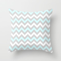 Chevron #5 Throw Pillow by Ornaart